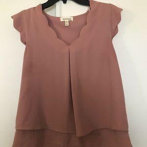 Dusty rose blouse